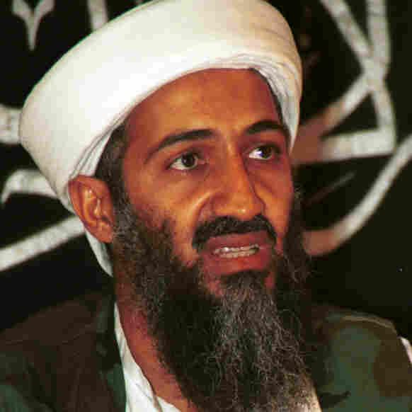 In this 1998 file photo made available in March 2004, Osama bin Laden speaks to journalists in Khost, Afghanistan. On Sunday, U.S. President Obama announced that bin Laden is dead.