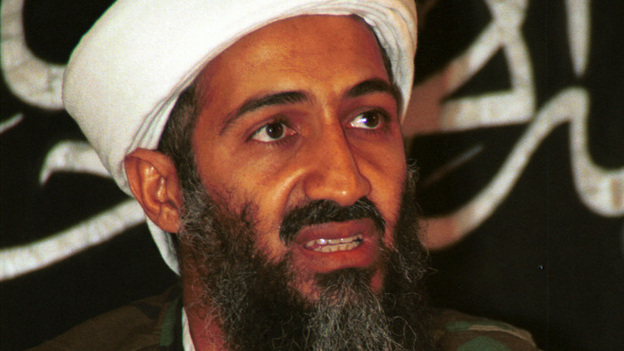 In this 1998 file photo made available in March 2004, Osama bin Laden speaks to journalists in Khost, Afghanistan. On Sunday, U.S. President Obama announced that bin Laden is dead. (AP)