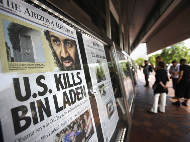 Front pages around the world reported the news. At the Newseum in Washington, D.C., many were on display today.
