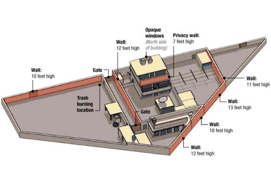A diagram of bin Laden's compound is seen in this graphic distributed by the U.S. government.