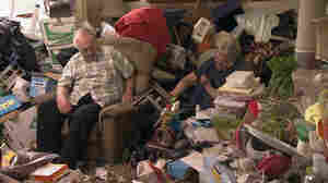 Gordon and his wife from the season premiere of the A&E show Hoarders. (A&E doesn't fully identify people who get treatment through their show.)