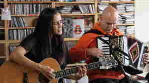 Julieta Venegas performs a Tiny Desk Concert at the NPR Music offices.