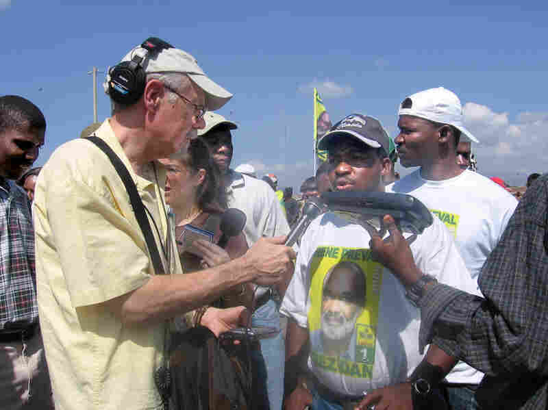 Corey Flintoff reporting from Haiti in 2006.