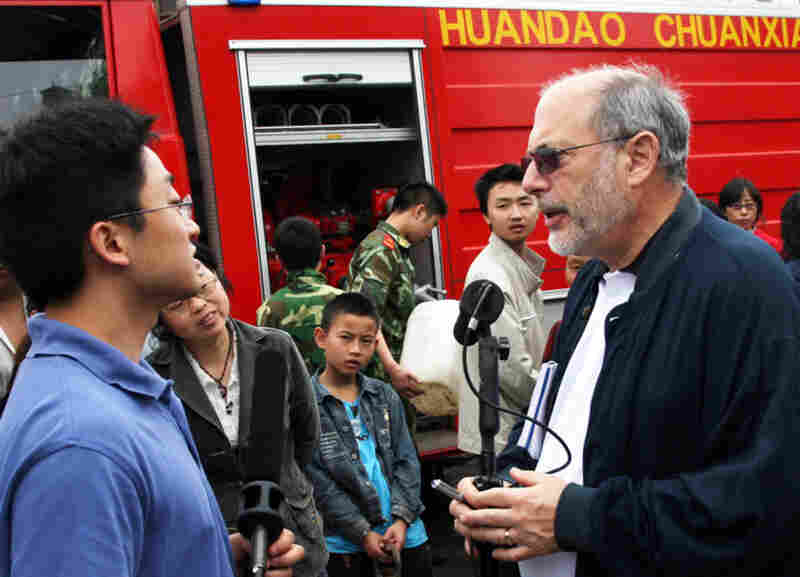 All Things Considered host Robert Siegel reporting from China during the 2008 earthquake and its aftermath.