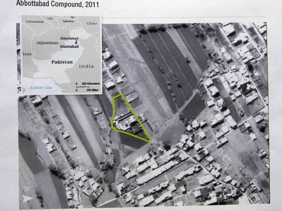 This aerial image provided by the CIA shows the Abbottabad compound in Pakistan where American forces killed Osama bin Laden.