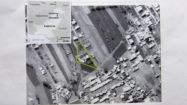 This aerial image provided by the CIA shows the Abbottabad compound in Pakistan where American forces killed Osama bin Laden. (AP)