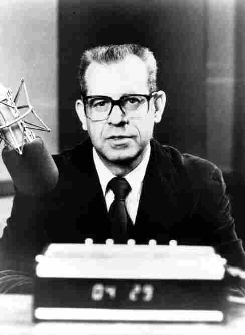 Carl Kasell in 1977, the year he joined NPR.