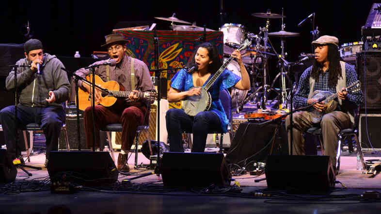 The Carolina Chocolate Drops perform on Mountain Stage.