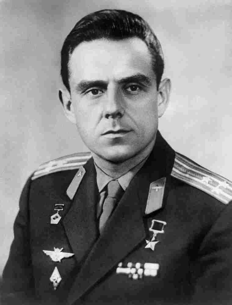 Portrait of Soviet cosmonaut Vladimir Komarov