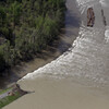 Water flowed through a breach in the Birds Point levee Tuesday in Mississippi County, Mo., after the U.S.  Army Corps of Engineers blasted open a 2-mile hole Monday night.