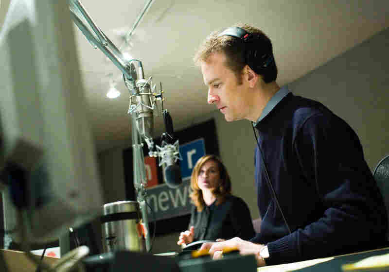 Morning Edition's hosts Renee Montagne and Steve Inskeep in the studio.