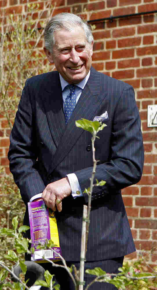 Prince Charles visits the Cardinal Wiseman School Farm, Coventry, England, on April 22, 2008.