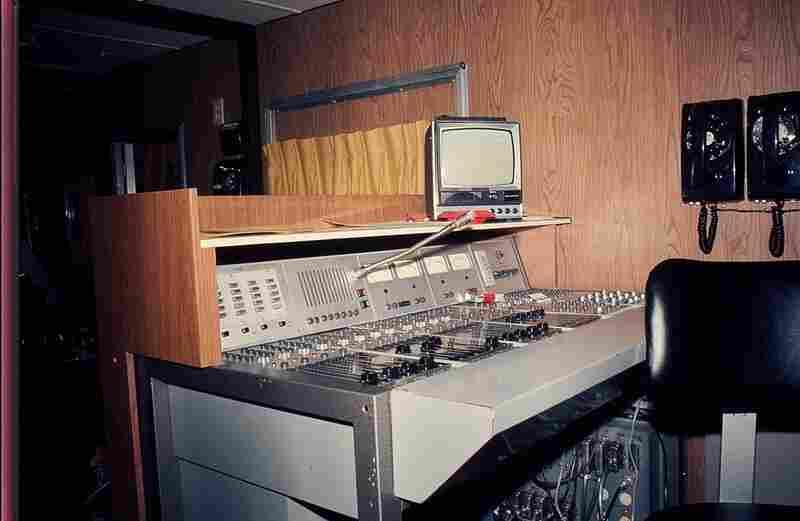 The Philips console inside NPR's first remote truck: a Winnebago RV.