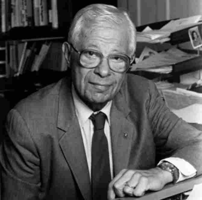 A longtime NPR contributor Daniel Schorr, in 1987.