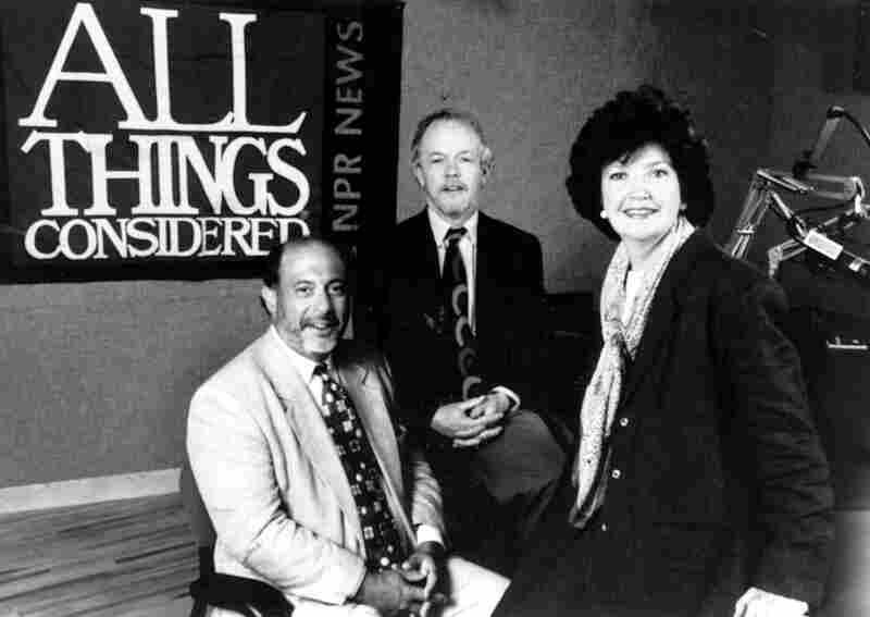 Robert Siegel, Noah Adams and Linda Wertheimer hosted ATC together from 1989-2002.