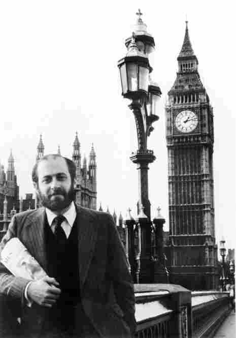 Robert Siegel in London in 1980, where he NPR's first staffer based oversees and opened the London bureau.