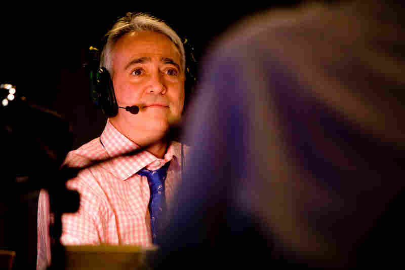 Scott Simon hosting NPR's 2008 election night coverage.