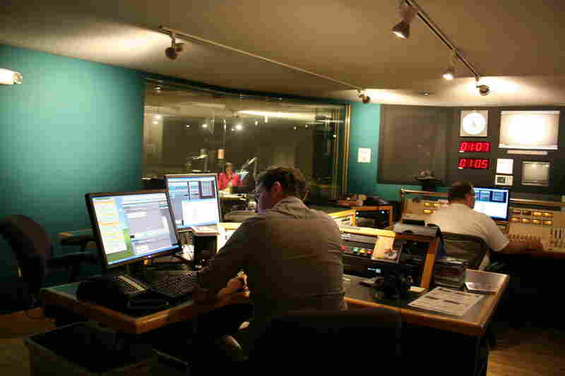 The control room of Studio 2A during the 40th anniversary show.