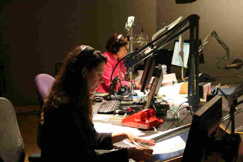 ATC hosts Melissa Block and Michele Norris in the studio during the show on May 3, 2011.