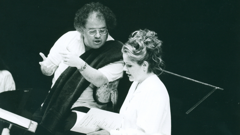 James Levine and Renee Fleming, 1993. (Metropolitan Opera)