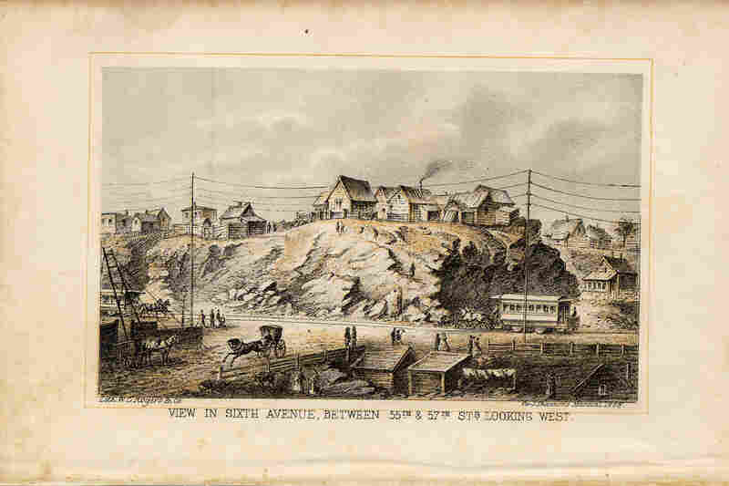 1868: Two decades before Carnegie Hall was built, the area was full of shacks and horse-drawn buses. Now, we know it as Sixth Avenue.