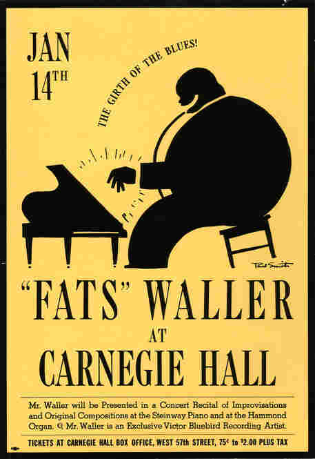 1942: Jazz found a home early on at Carnegie Hall; a three-time visitor was Fats Waller, who in this concert played both on a Steinway piano and on a Hammond organ.