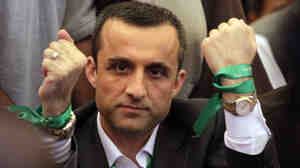 Former Afghan intelligence chief Amrullah Saleh was among the prominent speakers at the Kabul protest.