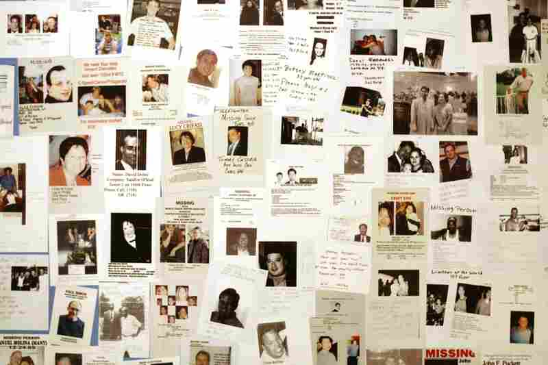 A wall of photographs showing victims who died during the attacks is displayed in the Sept. 11 Tribute Center, Sept. 6, 2006, in New York. The center opened to the public Sept. 18, 2006.