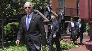 Vice President Joe Biden and congressional Republicans and Democrats leave Blair House in Washington, Thursday, May 5, 2011, after meeting in hopes of striking a deal on deficit reduction.