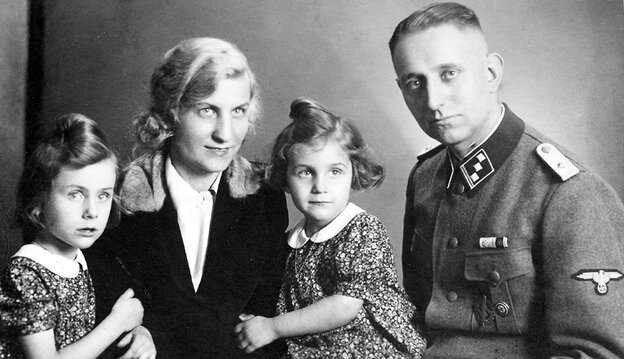 Uncovering A Secret Past: In a family portrait taken in 1941, Bruno Langbehn poses with his wife and children. It was not until after Langbehn's death, at 85, that his grandchildren learned he was not just a German dentist, but a dedicated Nazi and a member of Hitler's Schutzstaffel — the Nazis' chief paramilitary arm.