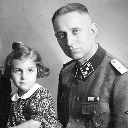 Uncovering A Secret Past: In a family portrait taken in 1941, Bruno Langbehn poses with his wife and children. It was not until after Langbehn's death, at 85, that his grandchildren learned he was not just a German dentist, but a dedicated Nazi and a member of Hitler's Schutzstaffel -- the Nazis' chief paramilitary arm.