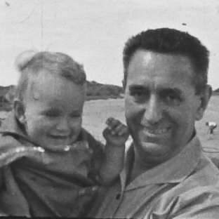 Author Martin Davidson pictured with his maternal grandfather, Bruno Lang­behn.