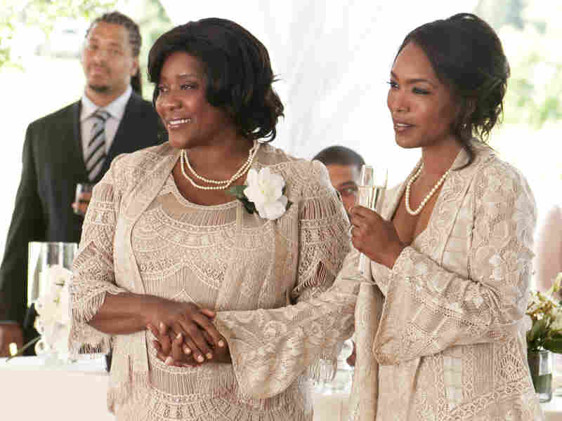 Loretta Devine (left) and Angela Bassett shine as Jason and Sabrina's mothers, who struggle to find common ground before the ceremony.