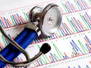 Stethoscope on DNA sequencing data sheet