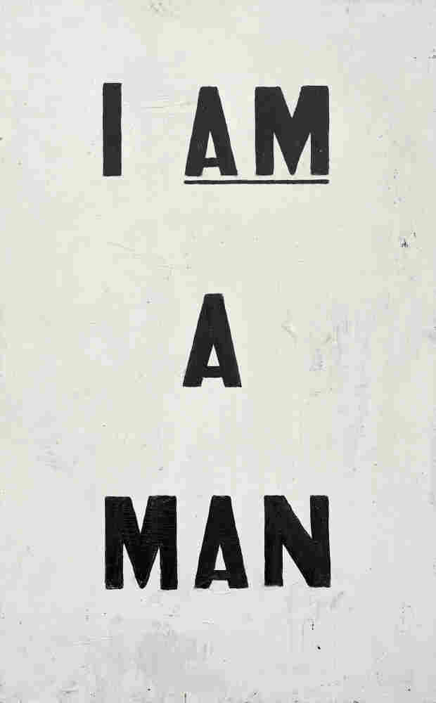 Untitled (I Am a Man) by Glenn Ligon, 1988