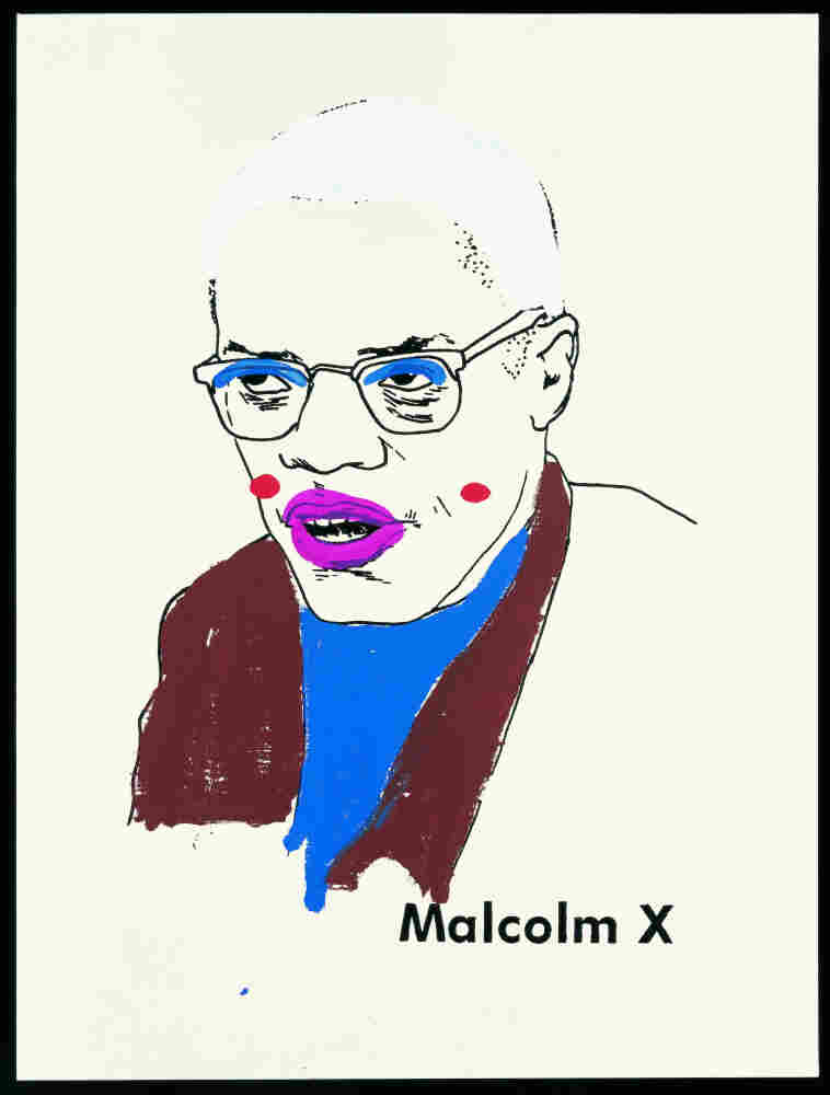 Malcolm X (Version 1) #1 by Glenn Ligon, 2000