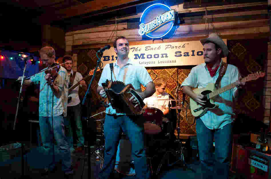 The Pine Leaf Boys' members perform at the Blue Moon Saloon in Lafayette, La.