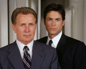 The West Wing gave Rob Lowe (right) the opportunity to act alongside his former neighbor, Martin Sheen. Lowe played Sam Seaborn, deputy White House communications director to Sheen's President Josiah Bartlet.