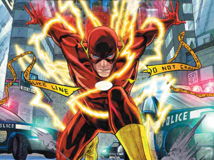 Comic book industry growth has also been attributed to the extreme rivalry between publishing monoliths Marvel and DC Comics, who battle it out with characters like the Flash (above) and Nova.