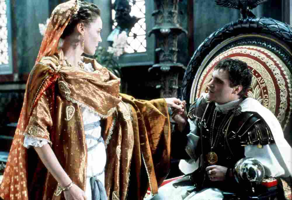 The Emperor of Rome (played by Joaquin Phoenix) has reason to question the loyalty of his sister Lucilla (played by Connie Nielson) in the movie Gladiator. Russell Crowe (not pictured) plays Maxiumus, a gladiator seeking to avenge the murder of his family.