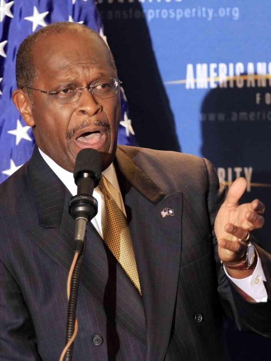 Herman Cain, April 29, 2011, in Manchester , N.H.