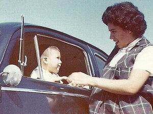 Felix Contreras with his mom, Carmen Contreras.