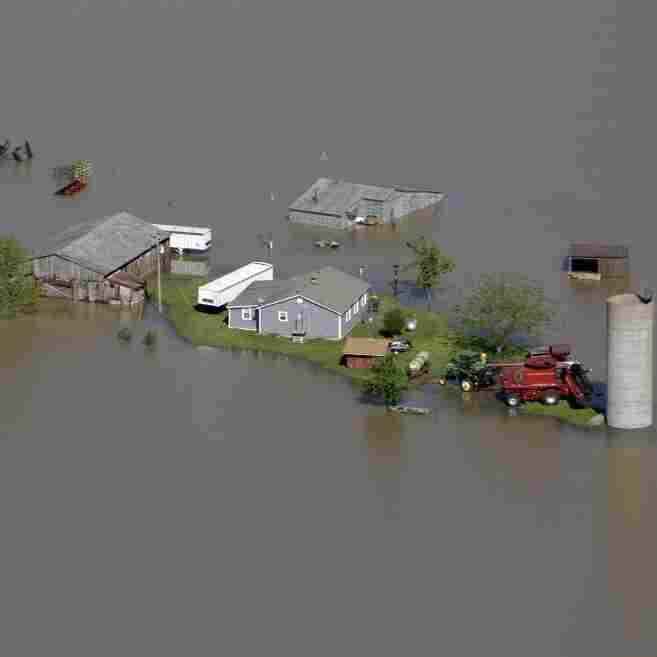 When the Army Corps of Engineers blasted part of a levee holding back the Mississippi River last week, floodwater poured over Missouri farmland and surrounded this farm near New Madrid, Mo.