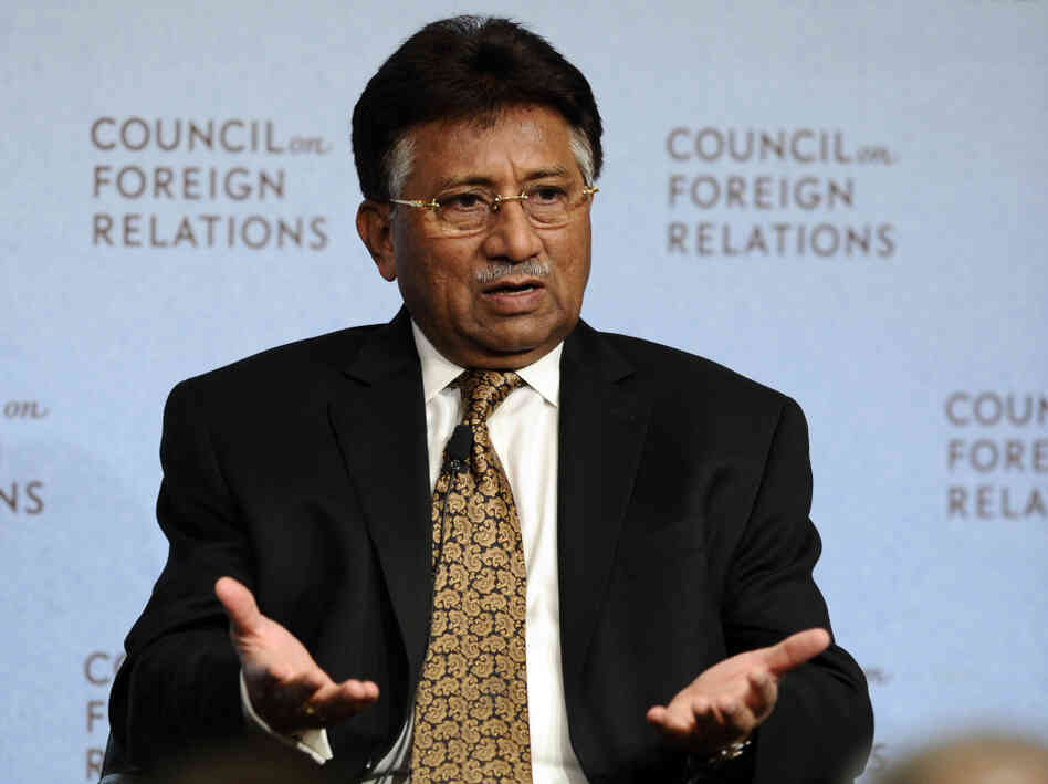 Pakistan's former president Pervez Musharraf, Nov. 9, 2010, in New York.