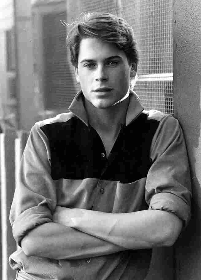 """Rob Lowe's family moved to California when he was a teenager, where he became fast friends with the likes of Charlie Sheen and Emilio Estevez. """"For the first time, I met people my own age that wanted to act and that wanted to be filmmakers,"""" he says. """"It was great to fall in with a crowd that had similar likes."""" Lowe is pictured in Los Angeles in 1983."""