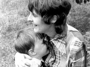 Robin Hilton with his mom.