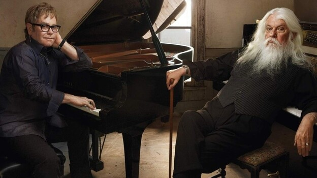 Elton John and Leon Russell appeared on World Cafe. (Courtesy of the artists)