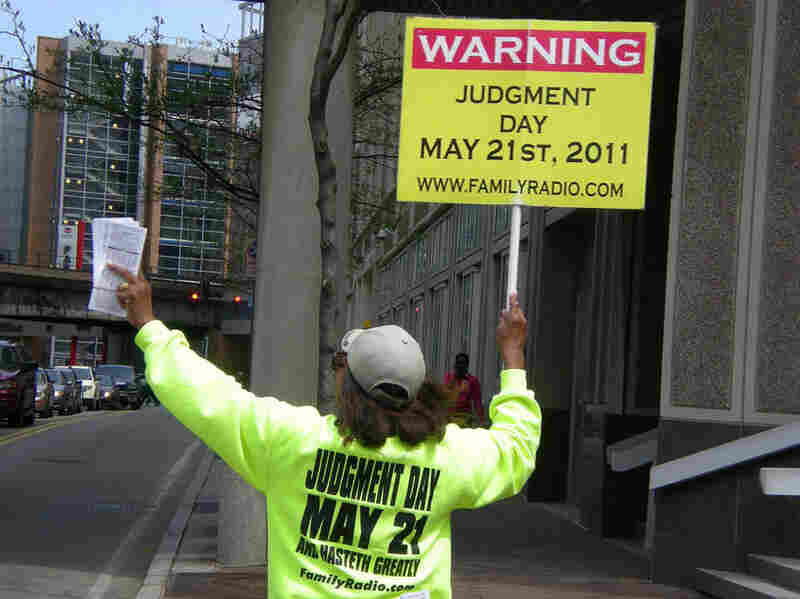 In Pittsburgh on April 30, Margaret Pease spreads the message that Judgment Day is fast approaching.