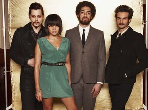 Left to right: Jack White, Norah Jones, Danger Mouse (a.k.a. Brian Burton), Daniele Luppi. Rome comes out May 17.