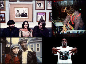 Clockwise from top: Cornershop and Bubbley Kaur, Protect-U, Big K.R.I.T., and Willie Wright.